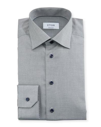 Textured-Weave Dress Shirt