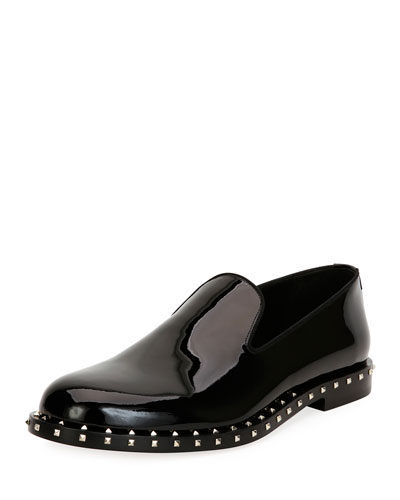 Soul Rockstud Patent Leather Formal Slipper, Black