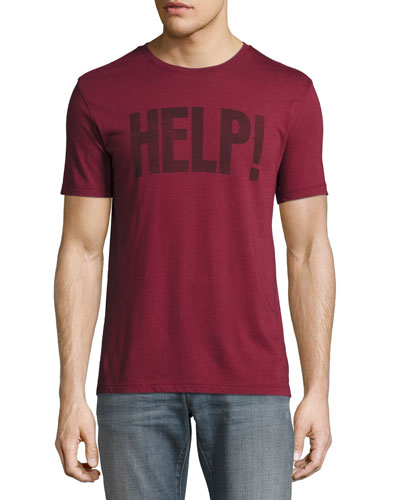 Beatles Help! Graphic T-Shirt, Charcoal
