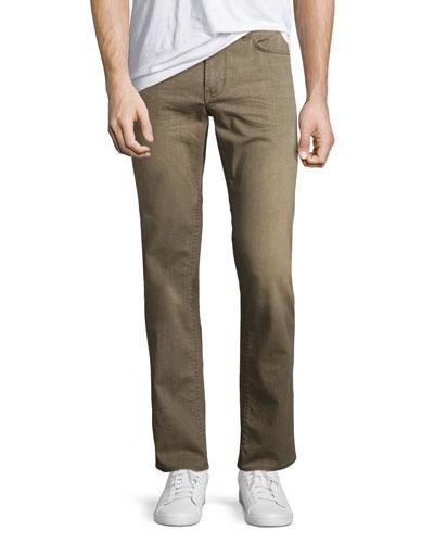 Bowery Slim-Straight Denim Jeans, Oat (Beige)
