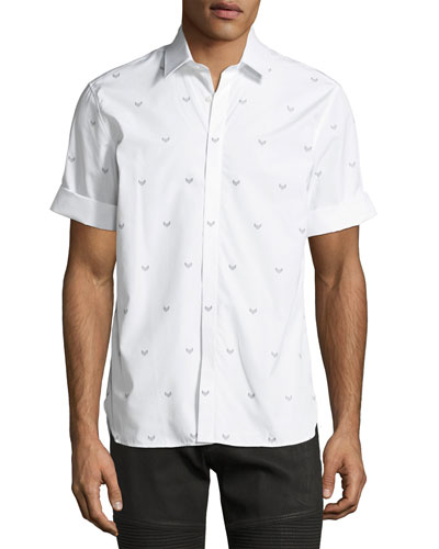 Military Arrow Short-Sleeve Cotton Shirt