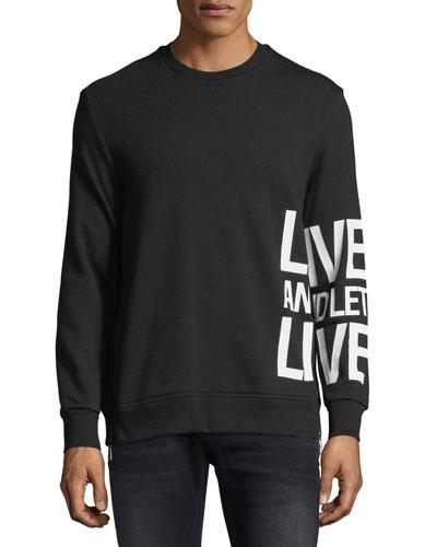 Live & Let Live Cotton Sweatshirt