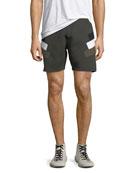 Neoprene Modernist-Stripe Shorts