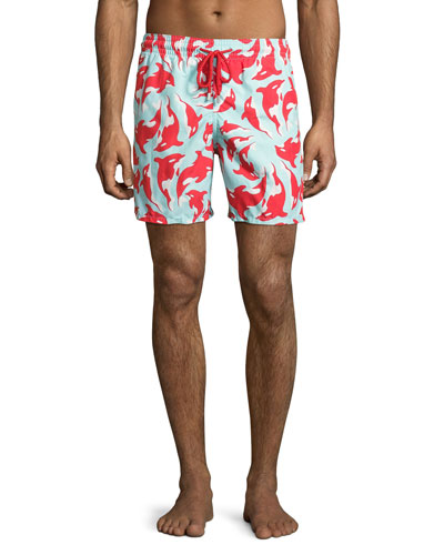 Moorea Galak Orca-Print Swim Trunks