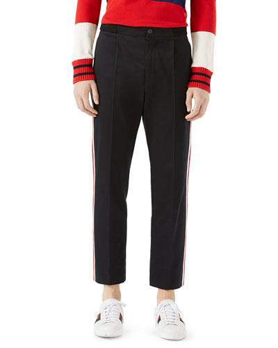 Cotton Jogging Pants with Sylvie Web, Black