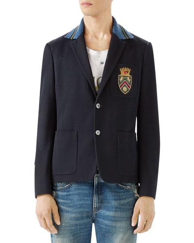 Cambridge Cotton Jacket with Crest