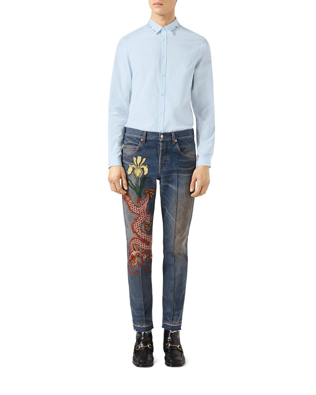 Embroidered Cotton Duke Shirt