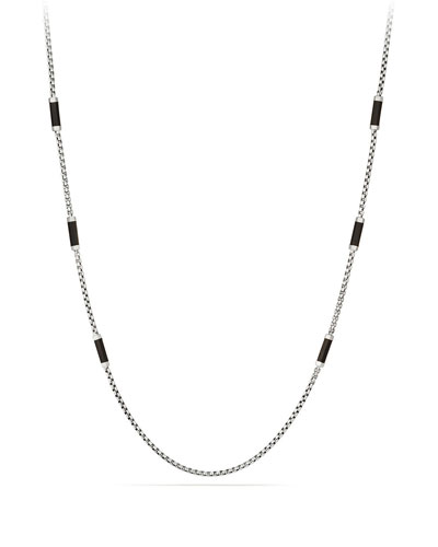 Men's Hex Chain Station Necklace