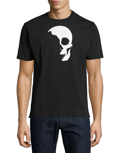Shadow Skull Graphic T-Shirt, Black
