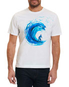Break the Wave Graphic T-Shirt, White