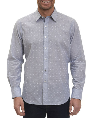 Dogtown Fil Coupé Band-Collar Shirt, Indigo