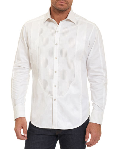 Limited Edition Tuxedo Days Tonal-Embroidered Shirt, Off White