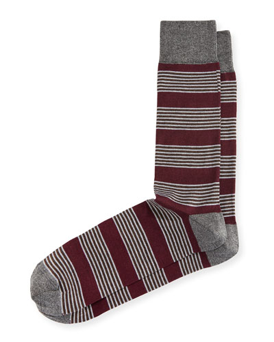 Blocked Stripe Socks