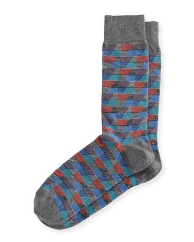 Geometric Millerighe Socks