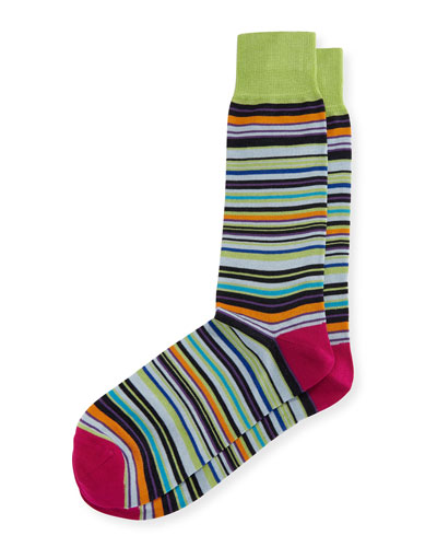 Mercerized Multi-Stripe Socks