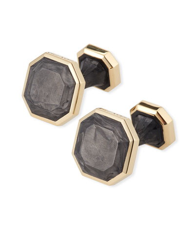 Forged Carbon 18k Cuff Links