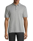 Cotton Pique Polo Shirt, Light Gray