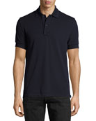 Tennis Pique Polo Shirt, Navy