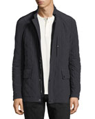 Diamond-Quilted Field Jacket