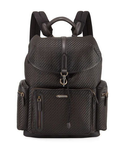 Pelle Tessuta Leather Backpack