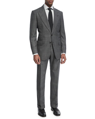 Shelton Base Mouline Prince of Wales Plaid Two-Piece Suit