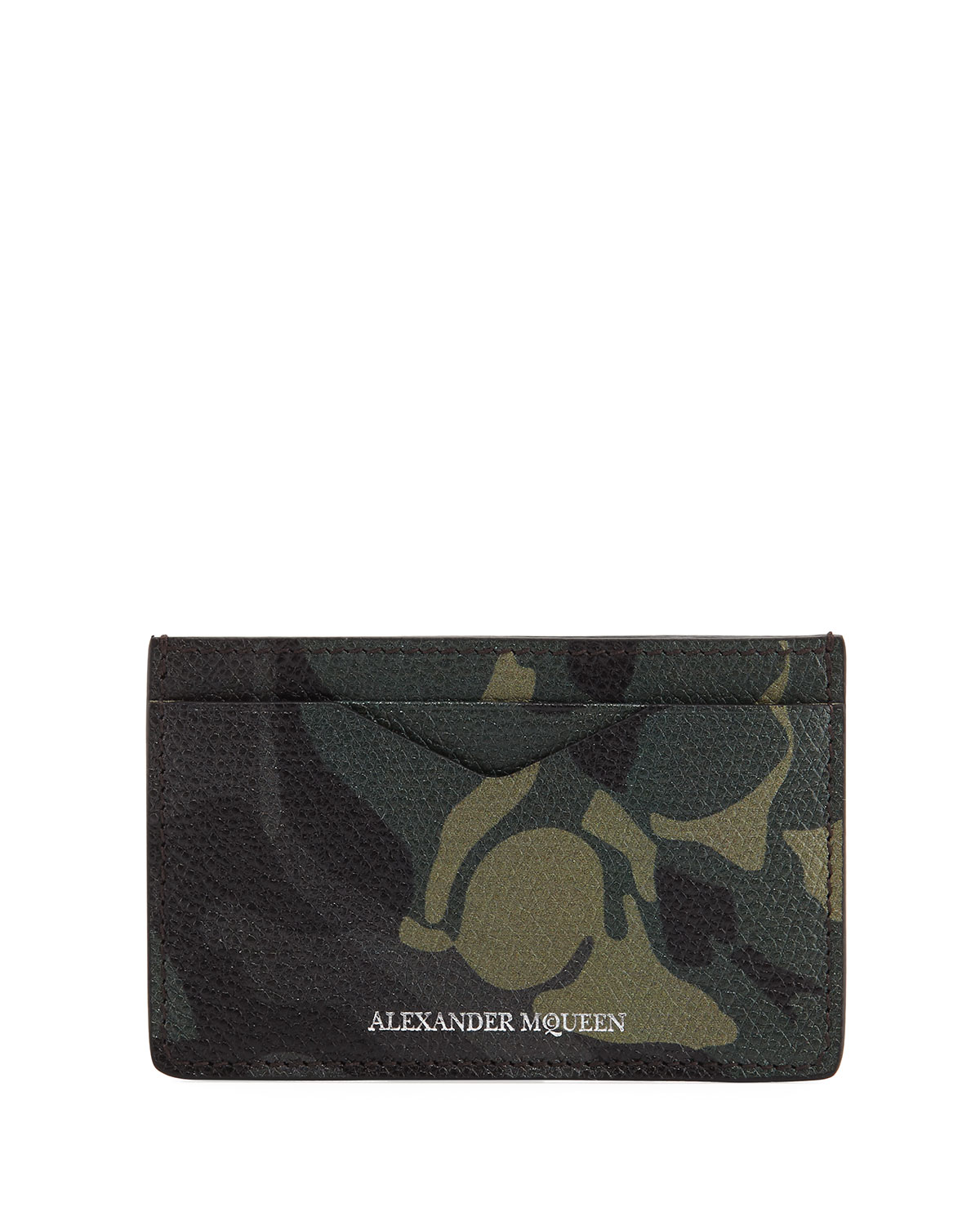 Camouflage Leather Card Case