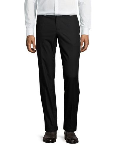 Flat-Front Cotton Pants