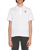 Classic Polo Shirt with Skull, White
