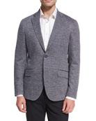 Jersey Check Sport Coat, Gray