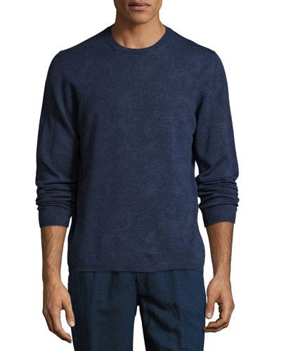Paisley Wool Crewneck Sweater