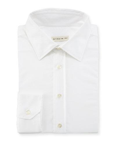 Solid Jacquard Dress Shirt