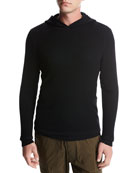 Double-Layer Super Wool Hoodie, Black