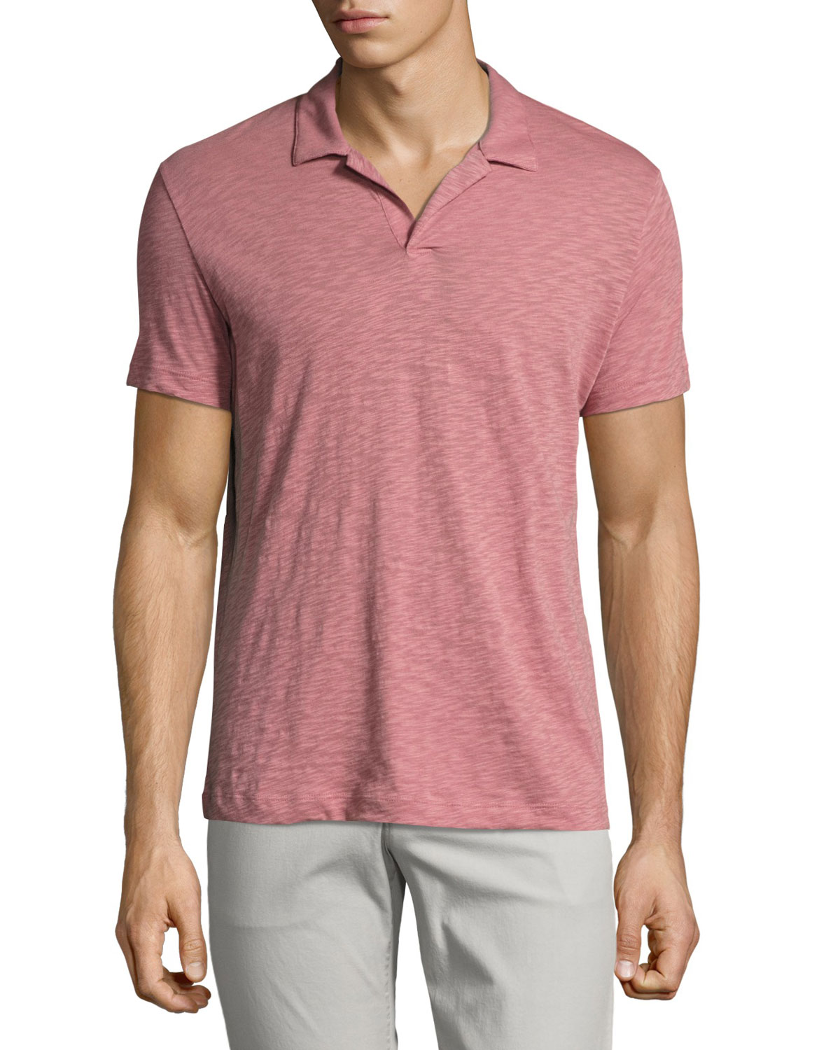 Willem Nebulous Slub Polo Shirt, Pink