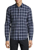 Rammy NP Air Check Shirt, Navy