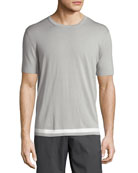 Tevez New Sovereign Short-Sleeve Wool Sweater, Gray