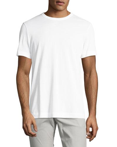 Gaskell N. Air Pique Crewneck T-Shirt, White