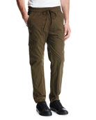 Drawstring Utility Pants, Green