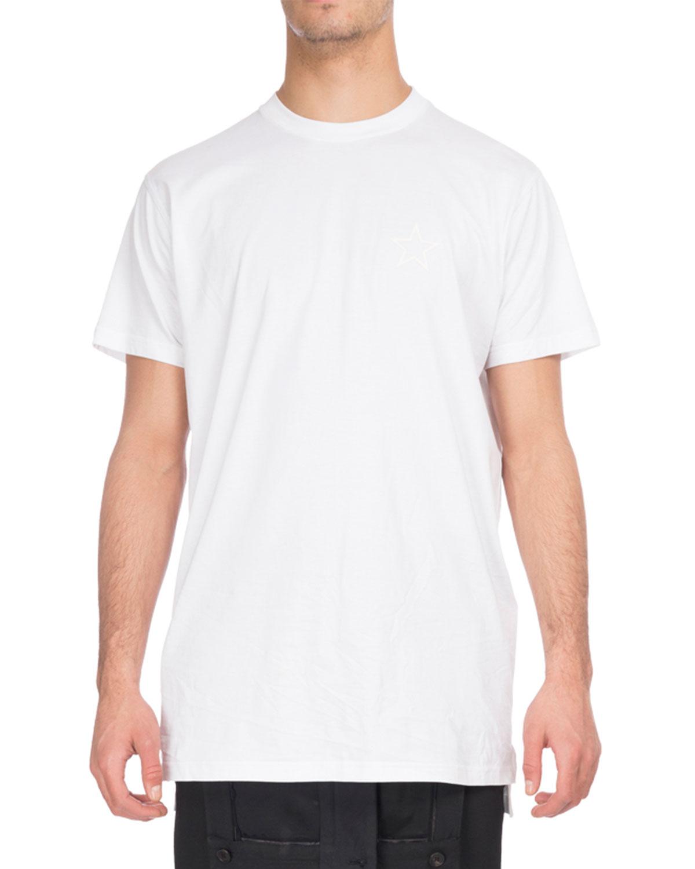 Tonal-Star Crewneck T-Shirt