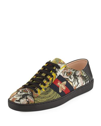 New Ace Tiger Jacquard Sneaker, Multicolor
