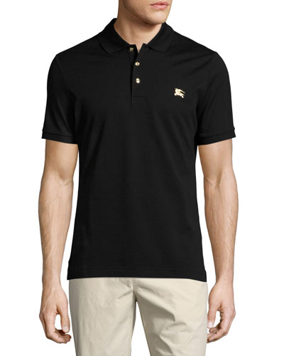 Talsworth Cotton Pique Polo Shirt, Black