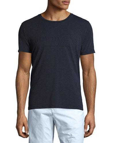 Martford Logo-Print Jersey T-Shirt, Navy