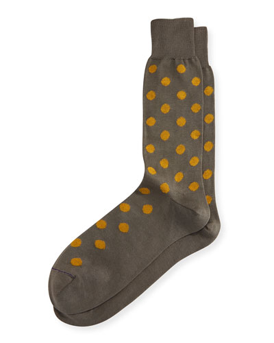 Bright Spot Dotted Socks, Slate
