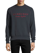 Taydon Embroidered Sweatshirt, Navy