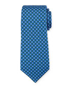 Mini-Box Silk Tie, Blue