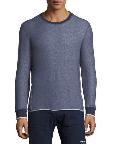 Denim-Look Raw-Edge Sweater