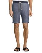 Denim-Look Sweat Shorts