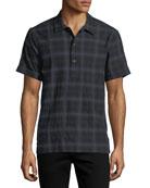Ashkelon Plaid Polo Shirt