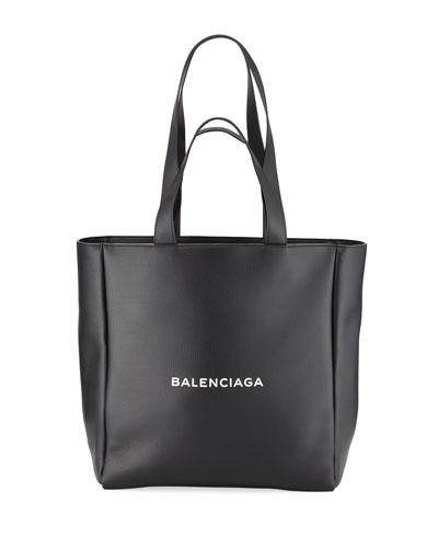 Men's Medium East-West Leather Tote Bag