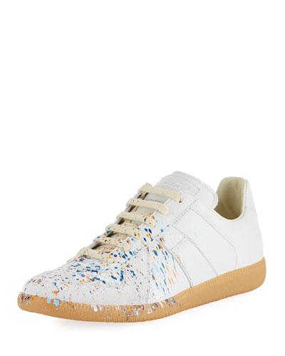 Men's Replica Paint-Splatter Low-Top Sneaker