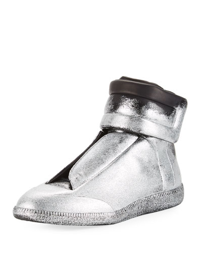 Future Glitter Leather High-Top Sneaker